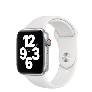 アップル(Apple)のApple Watch Sport Band ホワイト(ラバーベルト)