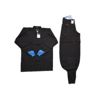 上下組 寅壱 1309 トビシャツ LL・超超ロング八分 W82cm ⑬黒