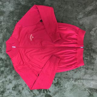 キャロウェイ(Callaway)のジップアップセーター胸がビニールの風よけの切り替えです昨年購入7度ほど着用です(ウエア)