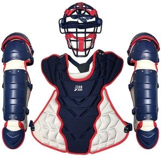エスエスケイ(SSK)の軟式野球キャッチャー防具3点セット+1(防具)