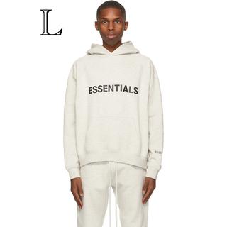 フィアオブゴッド(FEAR OF GOD)のEssentials off-white pullover hoodie L(パーカー)