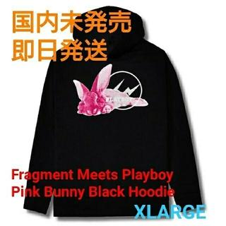 プレイボーイ(PLAYBOY)のFragment Playboy Pink Bunny Hoodie XL 新品(パーカー)