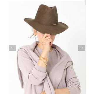 ドゥーズィエムクラス(DEUXIEME CLASSE)の美品 2020 ドゥーズィエムクラス  JANESSA LEONE HAT(ハット)