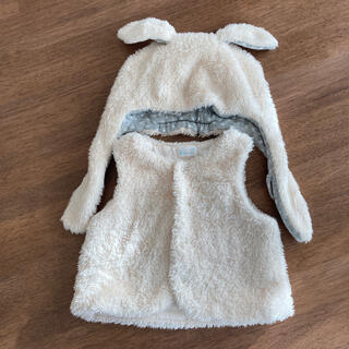 コンビミニ(Combi mini)のコンビミニ もこもこベスト&うさ耳帽子(帽子)