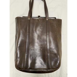 マルタンマルジェラ(Maison Martin Margiela)のマルジェラ レザー バッグ ダークブラウン トート margiela bag(トートバッグ)