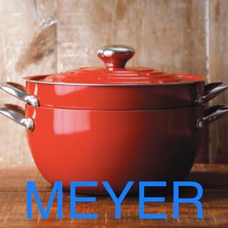 マイヤー(MEYER)のMEYER マイヤー ライトポット 24cm  レッド(鍋/フライパン)