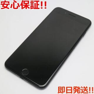 アイフォーン(iPhone)の美品 au iPhone7 PLUS 128GB ジェットブラック (スマートフォン本体)