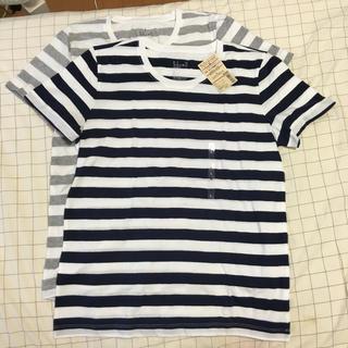 ムジルシリョウヒン(MUJI (無印良品))の無印良品  ボーダーTシャツ×2枚(Tシャツ(半袖/袖なし))