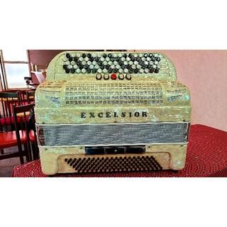【美品】EXCELSIOR ボタン式アコーディオン Mod.609 120ベース(アコーディオン)