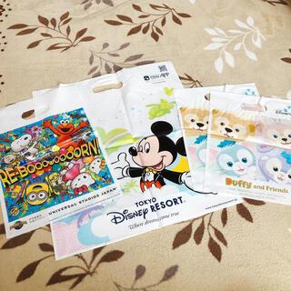 ディズニー(Disney)のディズニー USJ 袋4枚セット(ショップ袋)