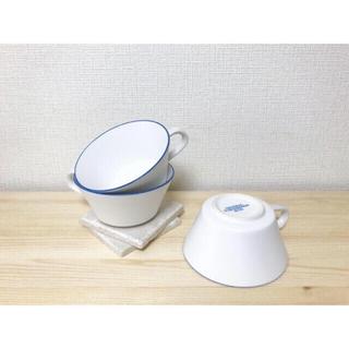 ロンハーマン(Ron Herman)の最終価格🍋GF&CO🍋美品 ブルーリム ポタージュマグ マルチカップ(食器)
