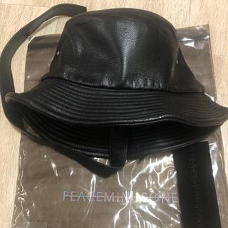 ピースマイナスワン(PEACEMINUSONE)のPeaceminusone PMO LEATHER BUCKET HAT #1(キャップ)