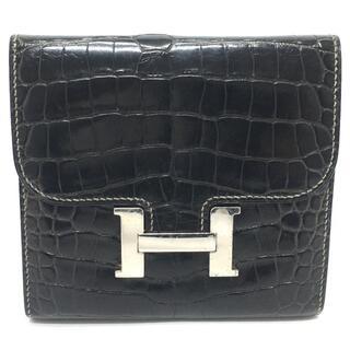 Hermes - エルメス コンスタンス 二つ折り財布 小物 革小物 メンズ クロコダイル