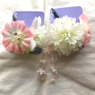 クレアーズ(claire's)のクレアーズ 浴衣 着物 和服 和装 髪飾り ヘアーアクセサリー ピンク 新品(ヘアピン)