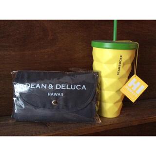 ディーンアンドデルーカ(DEAN & DELUCA)の新品未使用♡DEAN&DELUCA♡ハワイコンパクト折りたたみエコバッグ♡グレー(エコバッグ)