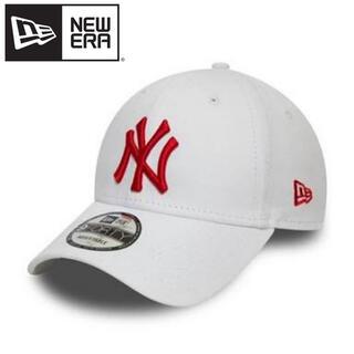ニューエラー(NEW ERA)のニューエラ キャップ NY ヤンキース 白 ホワイト 赤ロゴ レッド RED 赤(キャップ)