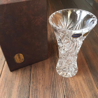 ボヘミア クリスタル(BOHEMIA Cristal)のボヘミアクリスタル 花瓶 フラワーベース クリスタルガラス 花器(花瓶)