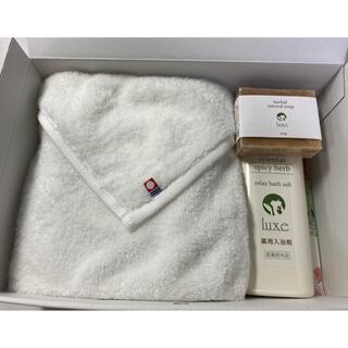 【新品未使用】タオル、バスセット luxe(タオル/バス用品)