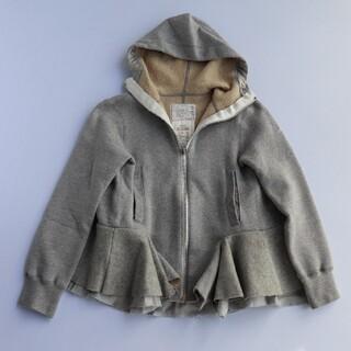 サカイラック(sacai luck)のsacai luck サカイラック 裾フリルパーカー 切り替えパーカー デザイン(パーカー)