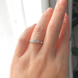 デビアス(DE BEERS)の《確認用》DeBeersデビアス pt900トリロジーダイヤモンドリング(リング(指輪))