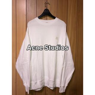 アクネ(ACNE)のアクネストゥディオス スウェット 19ss  ホワイト(トレーナー/スウェット)