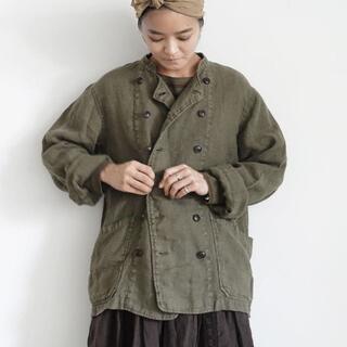 nest Robe - Cirque硫化染め Linen Patissier Jacket