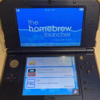 ニンテンドー3DS(ニンテンドー3DS)のhomebrew・PKSM導入済み New ニンテンドー3ds ll(携帯用ゲーム機本体)