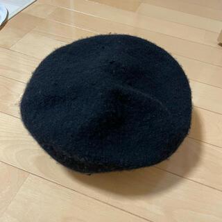 ジーユー(GU)の【GU】ベレーハット(ブラック)(ハンチング/ベレー帽)
