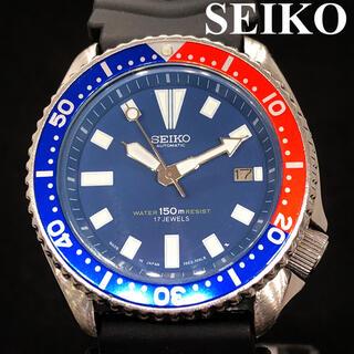 セイコー(SEIKO)の【お洒落】SEIKO/ダイバーズ/PEPSI/7002/ブルー/メンズ腕時計(腕時計(アナログ))