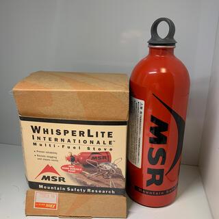 エムエスアール(MSR)のウィスパーライト 未使用品 燃料ボトル付き(ストーブ/コンロ)