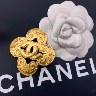シャネル(CHANEL)のバブル期名品!超美品 ヴィンテージ シャネル 96A クローバー ブローチ(ブローチ/コサージュ)