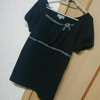 シマムラ(しまむら)の未使用ストーン付きトップス(カットソー(半袖/袖なし))