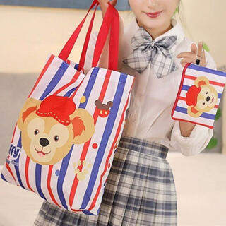 ダッフィー(ダッフィー)の日本未発売 ダッフィー エコバッグお買い物袋 トートバッグ 収納袋付き(エコバッグ)
