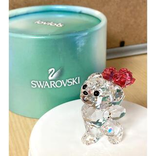 スワロフスキー(SWAROVSKI)のスワロフスキー 置物 クマ 花束💐SWAROVSKI(置物)
