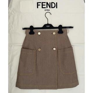 フェンディ(FENDI)のFENDI 2020 ベージュデニムスカート(ミニスカート)