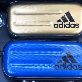 アディダス(adidas)のアディダス 筆箱 2個セット ゴールド ブルー 新品(ペンケース/筆箱)