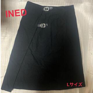イネド(INED)の【格安】イネド 巻きスカート Lサイズ(ひざ丈スカート)