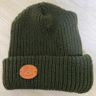 イルビゾンテ(IL BISONTE)のイルビゾンテ ニット帽 ニットキャップ カーキ色系(ニット帽/ビーニー)