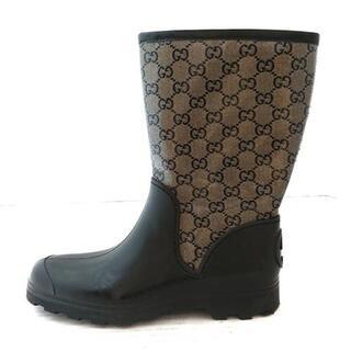 グッチ(Gucci)のグッチ レインブーツ 37 レディース GG柄(レインブーツ/長靴)