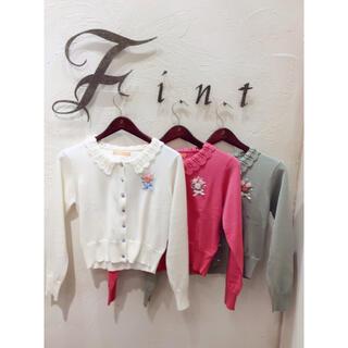 フィント(F i.n.t)の花刺繍カーディガン(カーディガン)