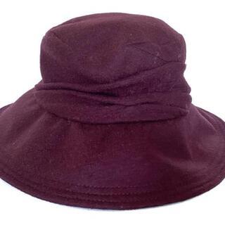 ヘレンカミンスキー(HELEN KAMINSKI)のヘレンカミンスキー 帽子美品  - ボルドー(その他)
