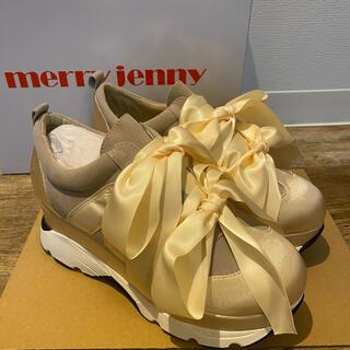 メリージェニー(merry jenny)の【merry jenny】リボンスニーカー Mサイズ(スニーカー)