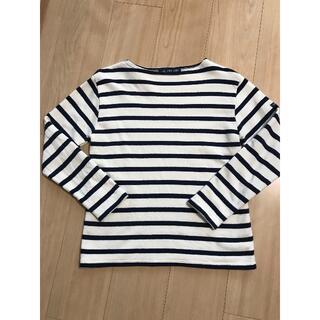 セントジェームス(SAINT JAMES)のセントジェームズ ホワイト×ネイビーボーダーTシャツ(Tシャツ(長袖/七分))
