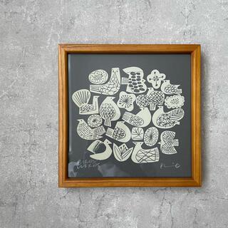 イデー(IDEE)のバーズワーズ シルクスクリーンポスター(絵画/タペストリー)