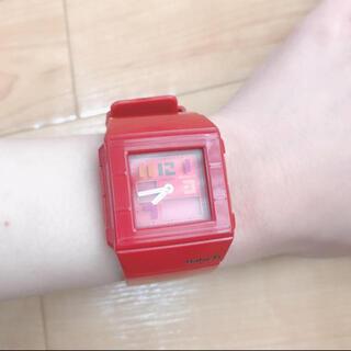 ベビージー(Baby-G)のBABY-G ベイビージー ウォッチ 腕時計 赤 レッド(腕時計)