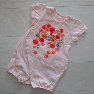 ブランシェス(Branshes)のブランシェス ロンパース 70cm 花柄 ピンク(ロンパース)