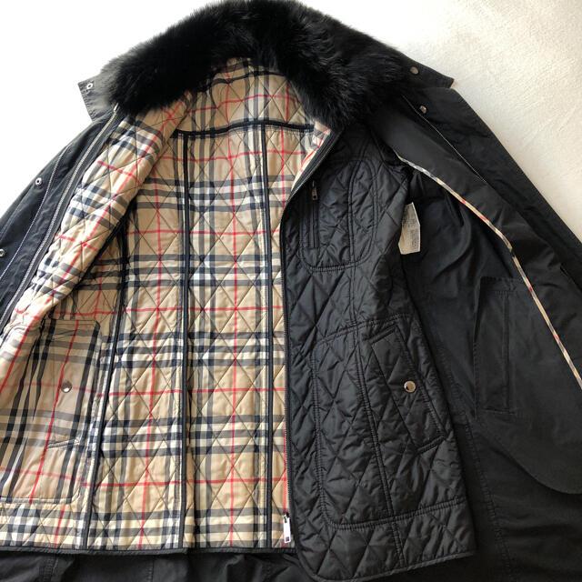 BURBERRY(バーバリー)の美品❗️バーバリー ロンドン フォックスファーライナー付きコート レディースのジャケット/アウター(毛皮/ファーコート)の商品写真