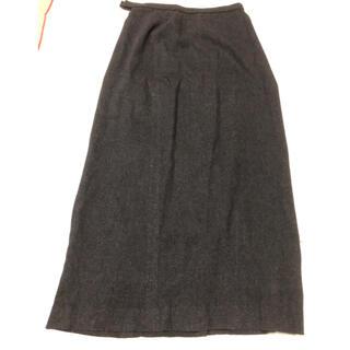 ハーディエイミス(HARDY AMIES)のロングスカート 9号濃いグレー起毛 ウール混 ハーディエイミス(ロングスカート)