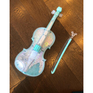 バンダイ(BANDAI)のディズニー ドリームレッスン ライト&オーケストラバイオリン ブルー(楽器のおもちゃ)