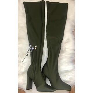 イエローブーツ(Yellow boots)の新品 YELLO ブーツ PINE LONG  M カーキ 23.5 サイハイ(ブーツ)